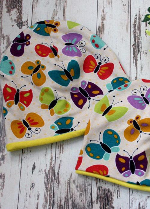 Шапка Сказочные бабочки