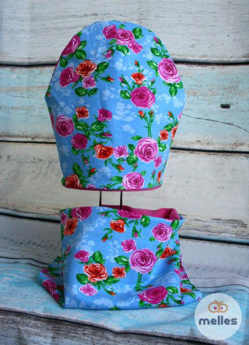 Комплект Розы на голубом