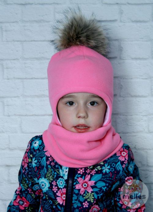 Комплект шапка+снуд натуральный повод